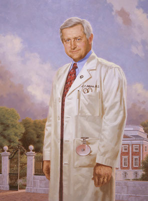 "Joseph Atkins, M.D., Pennsylvania Hospital, Philadelphia, Pennsylvania - oil on linen 40""x30"""