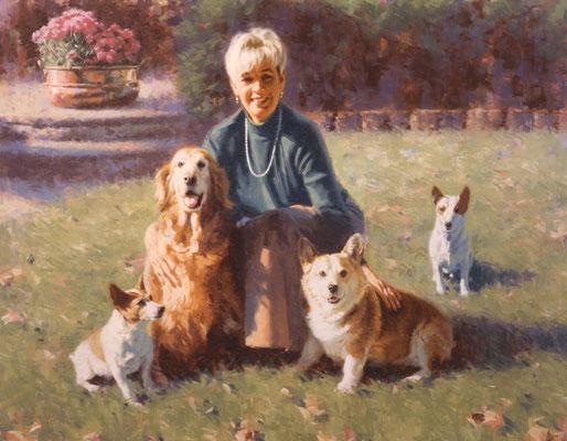 Jones and Friends (portrait in oil by Peter Schaumann)