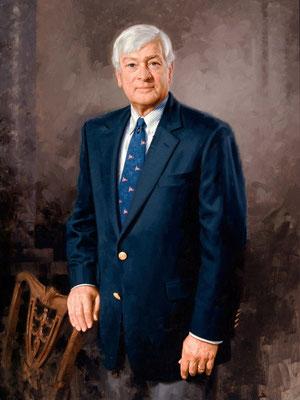 "Dr. Gordon A. Haaland, President, Gettysburg College, Gettysburg, Pennsylvania - oil on linen 40""x32"""