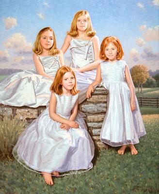 Sisters (portrait in oil by Peter Schaumann)