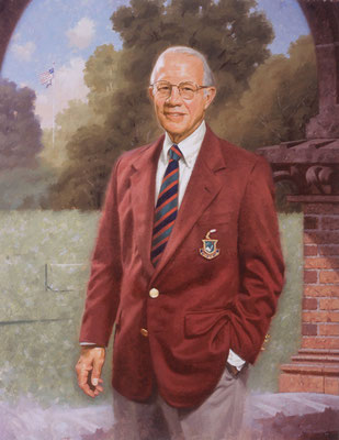 Thomas William, Merion Cricket Club, Merion, Pennsylvania - oil on linen 40x32""