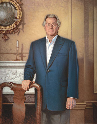 Jim Jenkins, Chairman, Board of Trustee, Blair Academy, Blairstown, NJ- oil on linen 40x30""