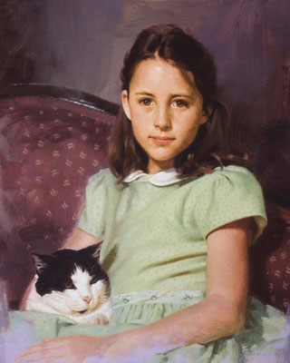 Barbara and Nicey (portrait in oil by Peter Schaumann)