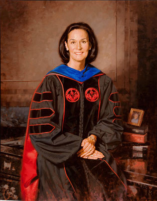 "Dr. Cathy Randall, Director of the University Honors Program, University of Alabama - oil on linen 44""x34"""