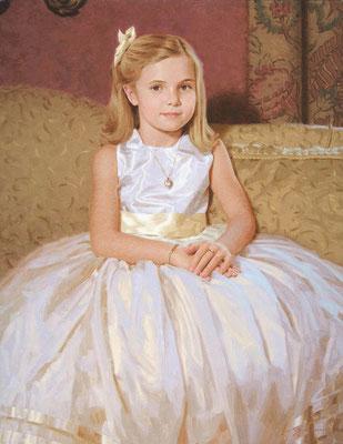Portrait of Girl (portrait in oil by Peter Schaumann)