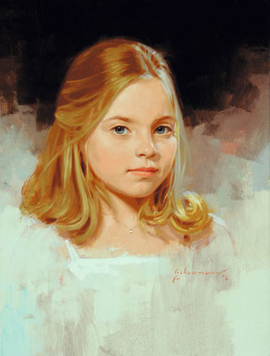 Dennie (portrait in oil by Peter Schaumann)