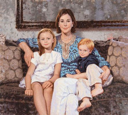 Punch and children (portrait in oil by Peter Schaumann)