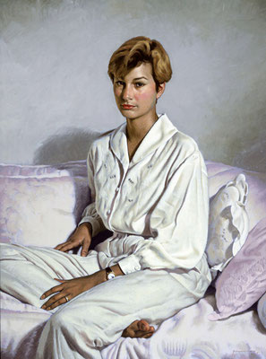 Molly (portrait in oil by Peter Schaumann)