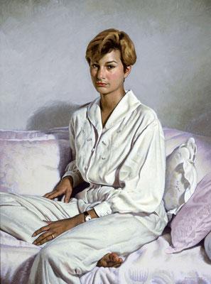 Molly (portrait in oil by Peter Schaumann)