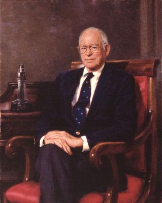 "Dr. Kaign Smith, Chairman, The Philadelphia Contributionship, Philadelphia, Pennsylvania - oil on linen 40""x32"""
