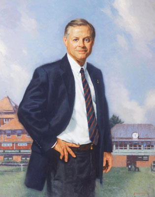 """John Thatcher, President, The Merion Cricket Club, Merion, Pennsylvania - oil on linen 36""""x28"""""""