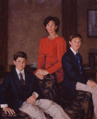 Kyle, Matt and Charlie (portrait in oil by Peter Schaumann)