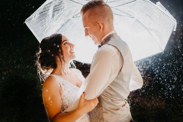 Regen an der Hochzeit