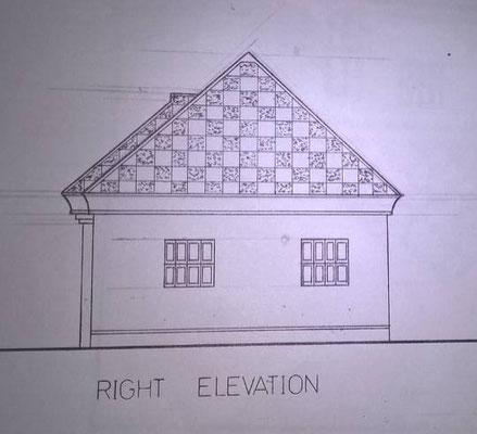 Rechte Hausfassade