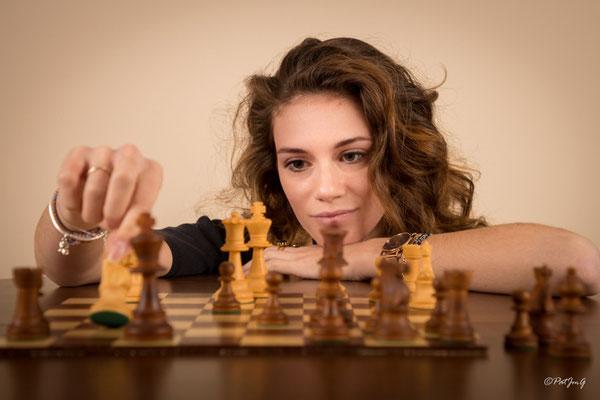 Le jeu de la dame inspiration - Modèle Heloïse