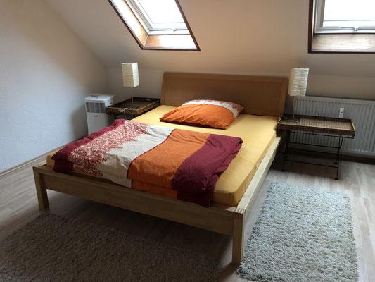 Ein Schlafzimmer in rot