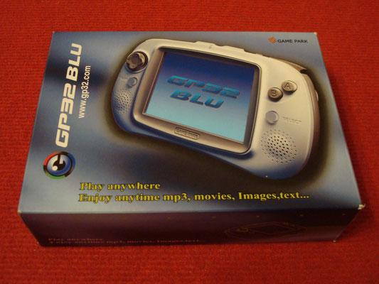 Caja de la GamePark GP32 BLU