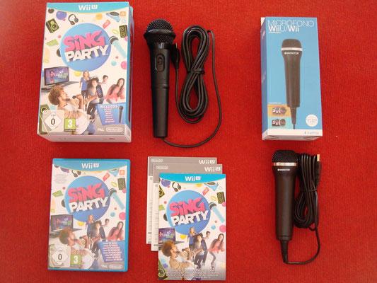 Mi videojuego: Sing Party + Nintendo Wii U Wired Microphone (a parte: un segundo Wii U Wired Microphone)