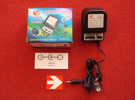 Accesorios extras: Transformador AC/DC Tiancheng