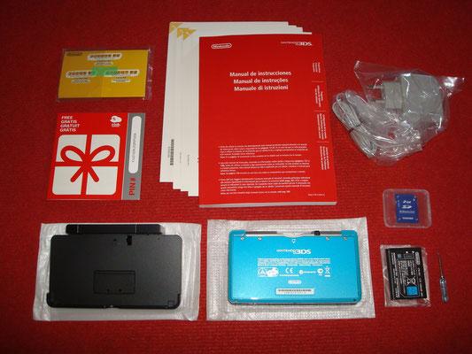 Contenido de la caja de la Nintendo 3DS