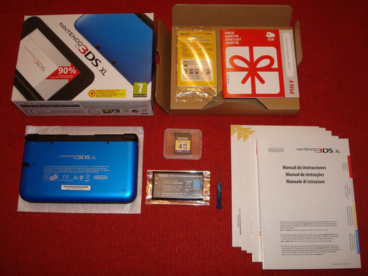 Contenido de la caja de la 3DS XL