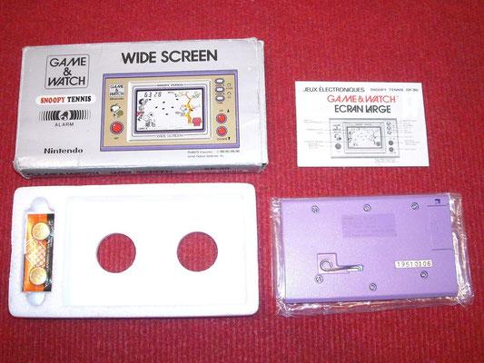 Contenido de la caja de la Game & Watch Snoopy Tennis