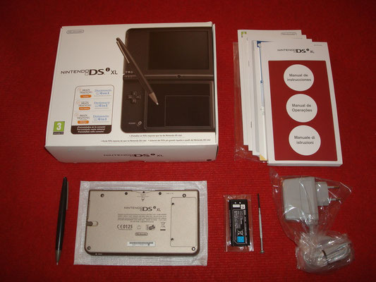 Contenido de la caja de la DSi XL