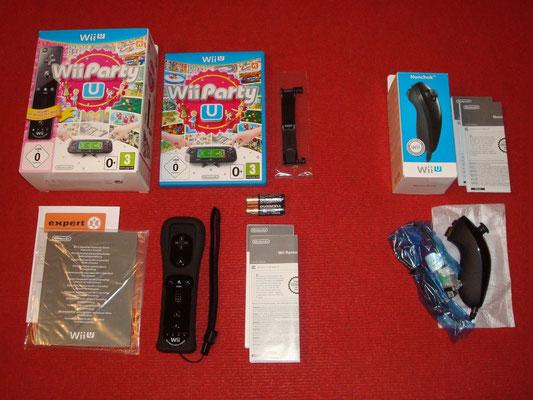 Mi videojuego: Wii Party U + Soporte Horizontal para Wii U GamePad + Wii Remote Plus (a parte: Nunchuk negro)