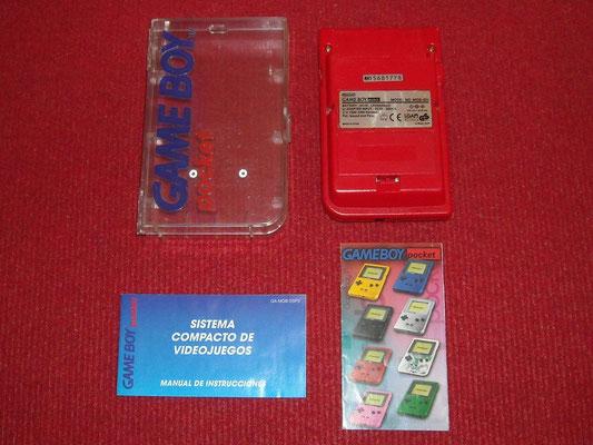 Contenido de la caja de la Game Boy Pocket (Cristal Case Edition)