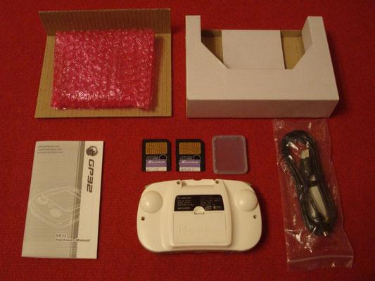 Contenido de la caja de la GamePark GP32