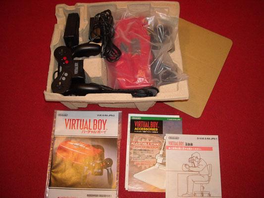 Contenido de la caja de la Nintendo Virtual Boy y accesorios extras