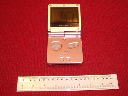 Mi Game Boy Advance SP Brighter (Pink Edition) abierta