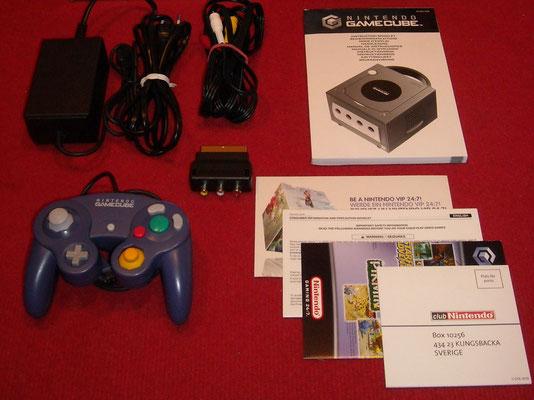 Contenido de la caja de la Nintendo GameCube