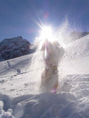 Spiel im Schneegestöber
