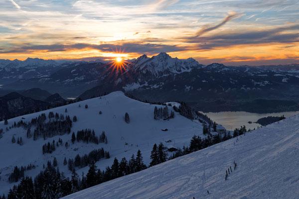 Sonnenuntergang auf der Rigi   -   MSW5451