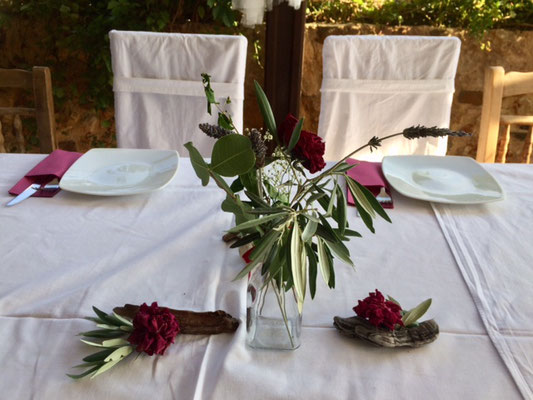 Olivenranches table deco