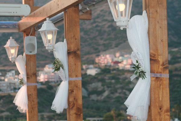 Schleierdekoration Hochzeit