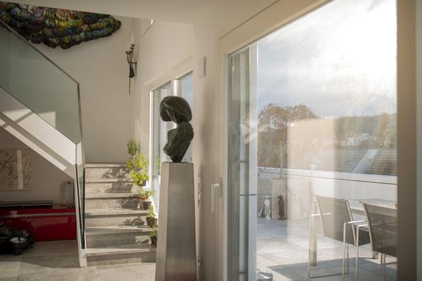 Fliesenlegerfachbetrieb Fliesenfachgeschäft Matthias Raisch - Penthouse in Stuttgart - Tradition trifft Innovation mit edlem Feinsteinzeug von Raisch. Kunst trifft Tradition