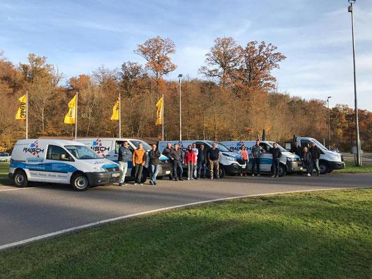 Raisch Fliesen Stuttgart & Ostfildern - ADAC Fahrsicherheitstraining für das gesamte Team. www.raisch-fliesen.de - ein Erfolg