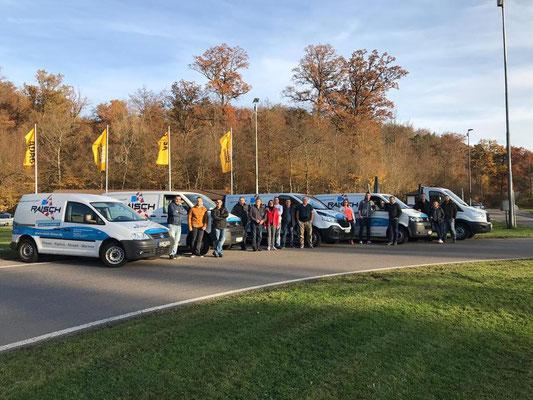 Raisch Fliesen Stuttgart & Ostfildern - ADAC Fahrsicherheitstraining für das gesamte Team. www.raisch-fliesen.de - Sicherheit geht vor