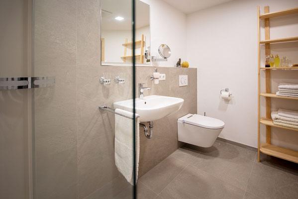 Raisch Fliesen Stuttgart und Ostfildern - Vorher Nachher Badezimmerbeispiele - Dusche mit Glastrennwand