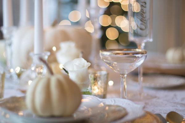 Décoration des tables pour un mariage automnale !