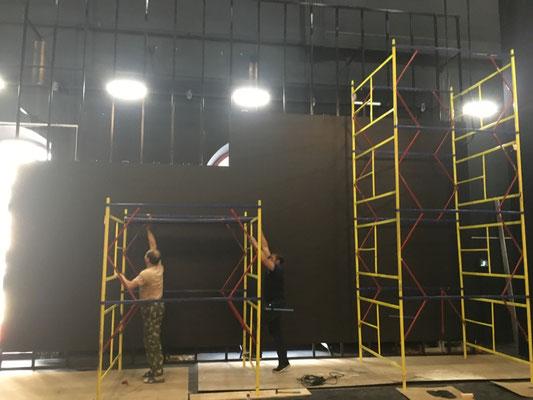 Монтаж светодиодного экрана