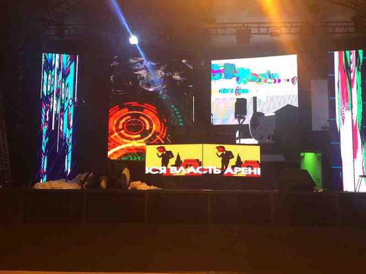 Светодиодный экран для ночного клуба 5х7 м, г.Иваново
