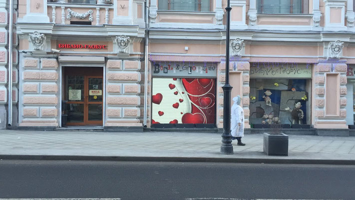 """Экран в окно. магазин """"Библио-Глобус"""",  г. Москва"""