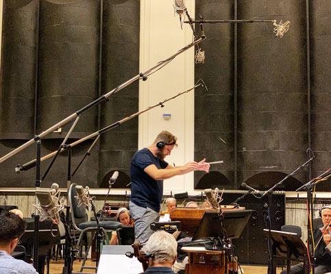 Matthijs Kieboom scoring Van Der Valk @ Smecky Music Studios - Picture Magdalena Miska
