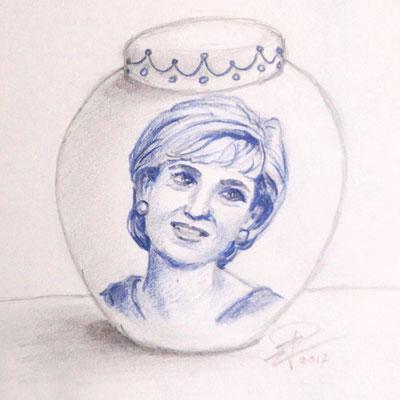 Schetsontwerp urn met portret-Handgemaakte-Urnen-Urn-laten-maken-Urn-laten-beschilderen