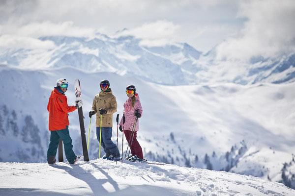 Skiing at the Skicircus Saalbach Hinterglemm Leogang Fieberbrunn