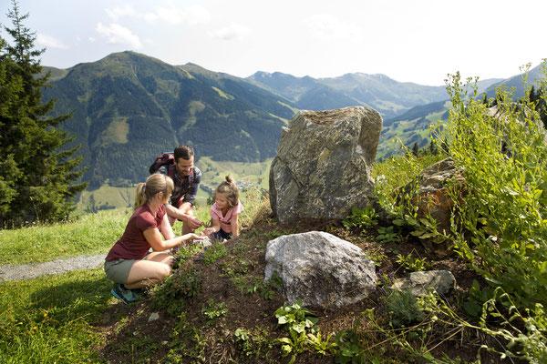 Urlaub mit Kindern in Saalbach im Appartement Schönfeld