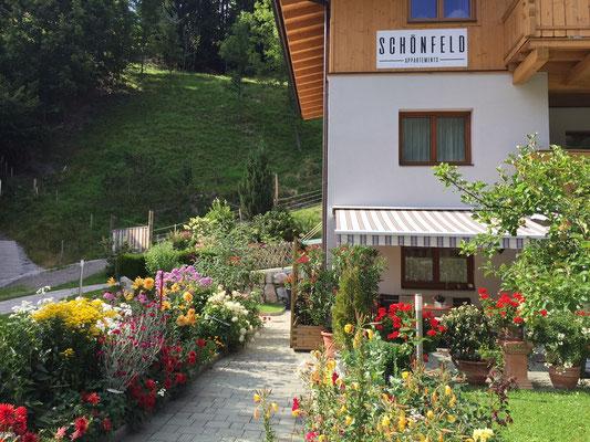 Appartement Schönfeld Eingang Sommer